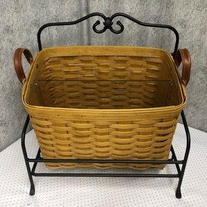 Longaberger newspaper basket with insert/divider